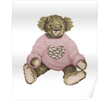 Teddy Bear with Pink Jumper Poster