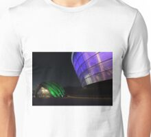 Glasgow Clyde Auditorium and The SSE Hydro at Night Unisex T-Shirt