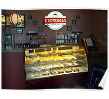 "Victoria""s Gourmet Coffee & Donuts Poster"
