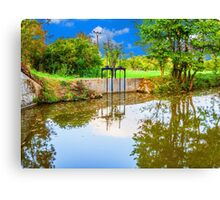 Bata canal, picture adjusted to the style of painting, oil painting Canvas Print