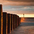 Blyth Groyn Sunrise by Philip  Whittaker