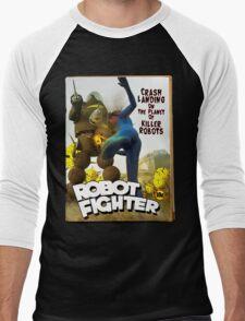 Robot Fighter Fake Pulp Cover 2 Men's Baseball ¾ T-Shirt