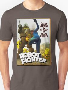 Robot Fighter Fake Pulp Cover 2 Unisex T-Shirt
