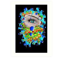 Abstract digital art - Delaneo V4 Art Print