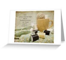 Hem Your Blessings Greeting Card