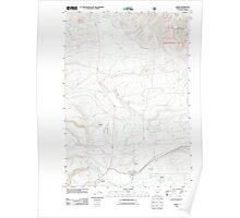USGS Topo Map Oregon Ukiah 20110822 TM Poster