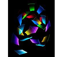 Neon Squiggle Photographic Print