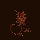 """"""" I love cats"""" - red edit by scatharis"""