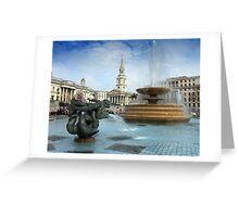 Trafalgar Square 2011 Greeting Card