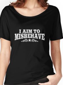 I Aim to Misbehave (White) Women's Relaxed Fit T-Shirt