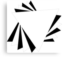 Contrasting Triangles Canvas Print