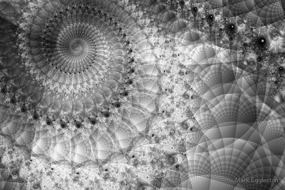 Spiral in Quilted Space by Mark Eggleston