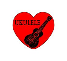 Ukulele Love Photographic Print