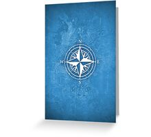 Compass blue map Greeting Card