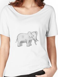 Elephant design Women's Relaxed Fit T-Shirt