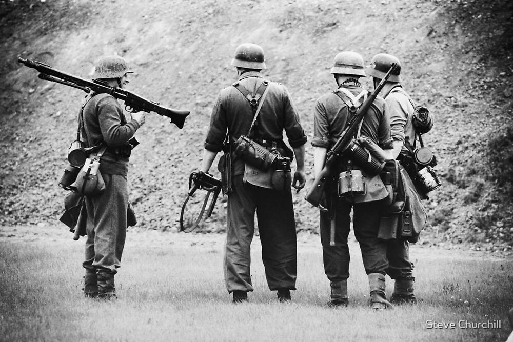 MG42 Team by Steve Churchill