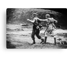 Rounding up the prisoners Canvas Print