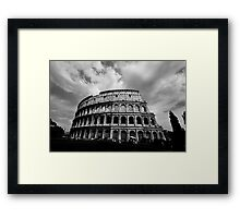 Colosseum in Black and White Framed Print