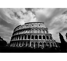 Colosseum in Black and White Photographic Print