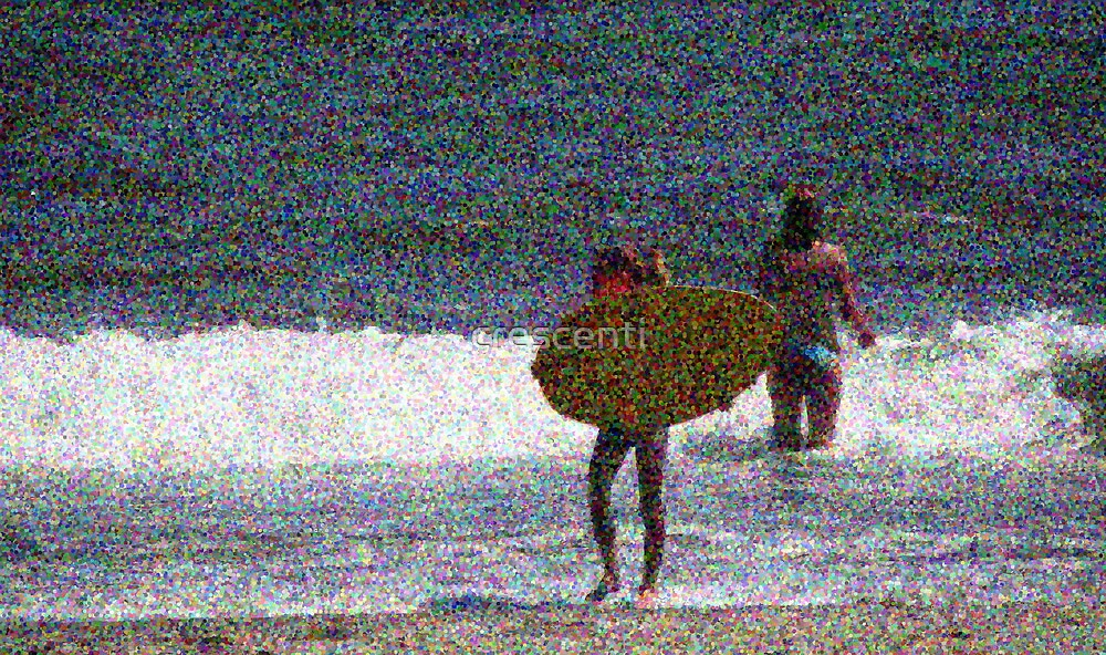 2011 124 1 pointillist surfer girl is born by crescenti