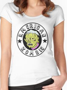 American Zombie Circle Face Part 2 Women's Fitted Scoop T-Shirt