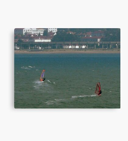 Windsurfing San Francisco Bay Canvas Print