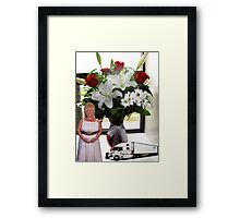 A SURPRISE BIRTHDAY DELIVERY ..BEAUTIFUL FLOWERS..FROM MY TRUCKER FRIEND JOHN Framed Print