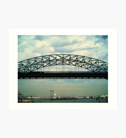 Vincent Thomas Bridge Span Art Print