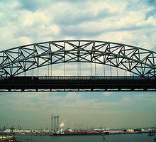 Vincent Thomas Bridge Span by oldmanfmdac