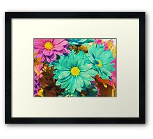 Rainbow of flowers © Framed Print