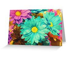 Rainbow of flowers © Greeting Card