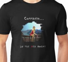 Commando in the red rocks Unisex T-Shirt