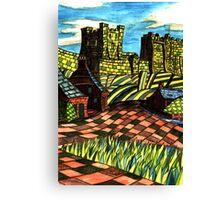 117 - BAMBURGH DESIGN - DAVE EDWARDS - WATERCOLOUR - SEP 2003 Canvas Print