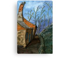 119 - DURHAM VIEW - 1 - DAVE EDWARDS - WATERCOLOUR - SEP 2003 Canvas Print