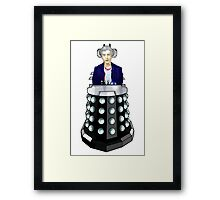 Doctor Who - I'm having his chair! Framed Print