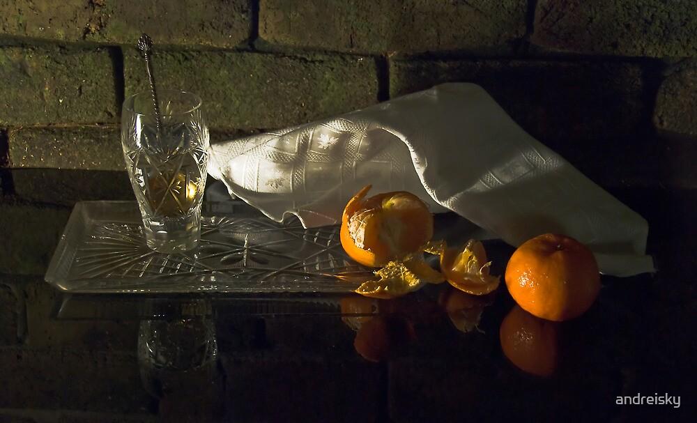 Still life with mandarins by andreisky