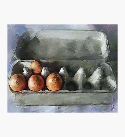 Protected...Eggs in Carton Photographic Print