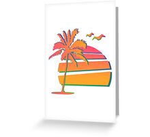 80's Sunset Greeting Card
