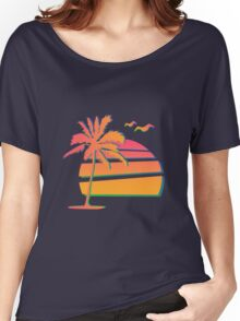80's Sunset Women's Relaxed Fit T-Shirt