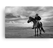 hunts beach, south westland, nz Canvas Print