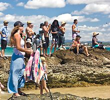 Photographer at Quiksilver Pro by Gavin Lardner