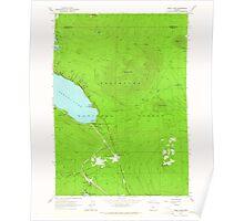 USGS Topo Map Oregon Odell Lake 280963 1963 24000 Poster