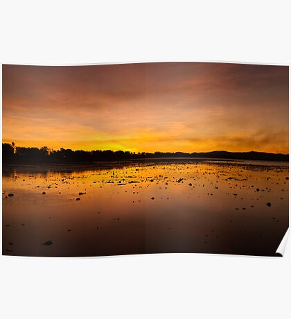 Smoky Sunset, Rowes Bay Poster