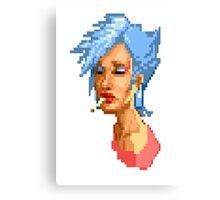 80's Pixel Girl Canvas Print