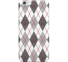 Gray Argyle iPhone Case/Skin