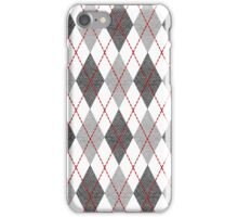 Gray Argyle iPhone Case/Skin