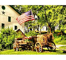 Wind On Wagons Sail Photographic Print