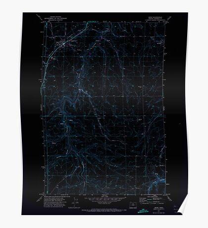 USGS Topo Map Oregon Moro 280794 1971 24000 Inverted Poster