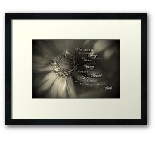 Traditional Vows Framed Print