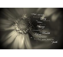 Traditional Vows Photographic Print